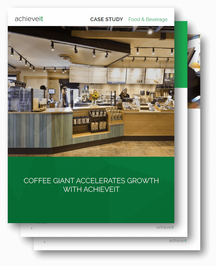 Coffee retail conglomerate accelerates brand growth with AchieveIt